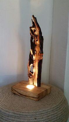 Drift wood lamp - olivewood /Nidanin Woodwork