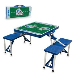 Use this Exclusive coupon code: PINFIVE to receive an additional 5% off the Detroit Lions Blue Portable Picnic Table at SportsFansPlus.com