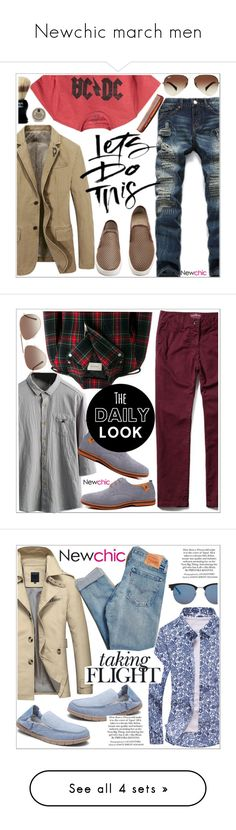 """""""Newchic march men"""" by teoecar ❤ liked on Polyvore featuring Gap, Ray-Ban, Hawkins & Brimble, Taylor of Old Bond Street, Baxter of California, men's fashion, menswear, Gucci, Tom Ford and Levi's"""