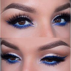 A little Patriotic inspired eye makeup for your 4th of July Celebration. Pair…