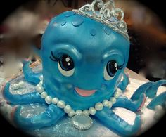 Princess octopus cake