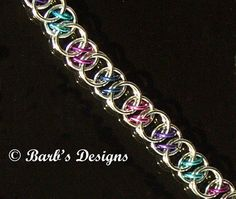 Chainmaille Bracelet Is Cute In Berry Anodized by BarbsDesigns