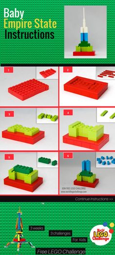 Empire state lego instructions Step by step instructions to build this lego empire state mini building! Lego Girls, Lego For Kids, Easy Lego Creations, Lego Studios, Lego Therapy, Lego Challenge, Free Lego, Lego Builder, Lego Projects