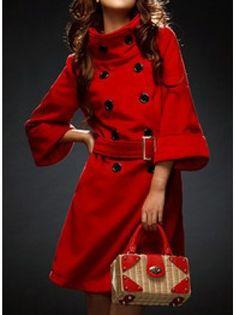 Woolen Latern Trench Coat