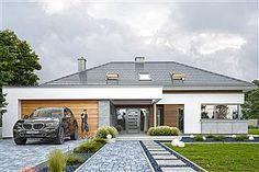Projekt domu Hiacynt 210,18 m2 - koszt budowy - EXTRADOM Bungalow Haus Design, Bungalow House Plans, Bedroom House Plans, House Design, Architecture Plan, Building Plans, Home Projects, Exterior Design, How To Plan