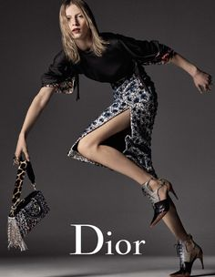 Photographed by Steven Meisel, Julia Nobis hits her stride in Dior's fall 2016 advertising campaign