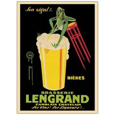 Trademark Global Bieres Brasserie Lengrand by G Piana, Traditional Canvas Art - 32 x 24 - V8006-C2