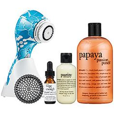 Clarisonic Plus Floral Print with Philosophy Set - Turquoise