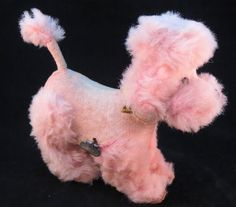 Vintage 1950-60's Pink Poodle Dog Pup Wind-Up by RockwallAntiques