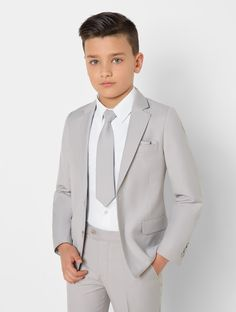 Shop for boys stone grey suit 'Jackson' at Roco. Perfect as a page boy suit with free UK delivery & 30 day returns. Navy Dress Outfits, Boy Outfits, Kids Wedding Suits, Wedding Attire, Suit Measurements, Pink Suit, Crisp White Shirt, Short Suit, Boys Suits
