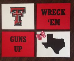 Texas Tech Canvas Set. Wreck 'Em,