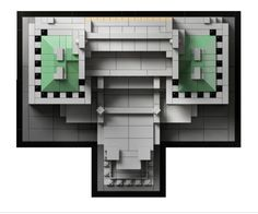 Lego architecture landmark series: the Imperial Hotel, Tokyo, Japan