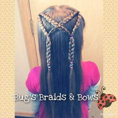 Cute half up style inspired by Easy Toddler Hairstyles for today #bugsbraidsandbows