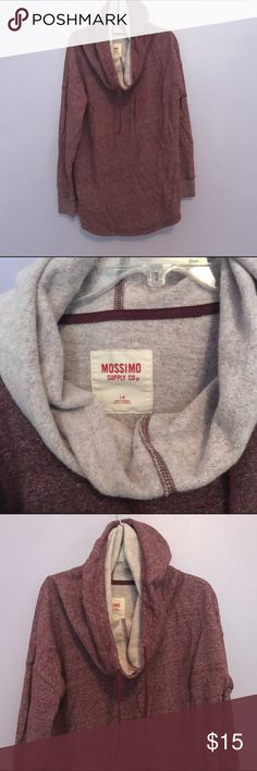 Heathered Burgundy Hoodie Soft, barely worn hoodie pullover. No stains or tears, warm and comfy! Mossimo Supply Co. Tops Sweatshirts & Hoodies