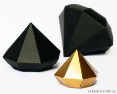 No money for a real diamond? What about make your own cheap and easy-to-build Papercraft Diamonds?  There are only a few days left until C...