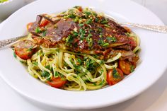 Pasta with Soft Shell Crabs