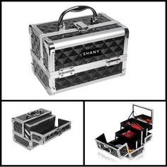 Professional Makeup Case + Mirror Cosmetic Beauty Organizer Box Storage Bag New #Shany