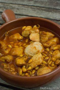 Tapas - Honig-Hähnchen mit Pinienkernen