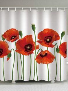 Personality Handmade Flowers Print Waterproof Shower Curtain