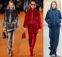 Тренд 2018-2019 бархатные платья костюмы бомберы пальто из велюра плюшевые куртки фото Red Leather, Leather Jacket, Velvet, Women's Fashion, Sport, Jackets, Style, Studded Leather Jacket, Deporte