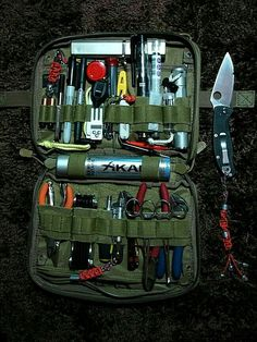 Investing in survival gear can significantly improve your chances of surviving a natural disaster. You should put together an extensive survival kit and work on your survival skills as much as possible. Read the . Survival Equipment, Survival Tools, Camping Survival, Outdoor Survival, Survival Prepping, Emergency Preparedness, Camping Gear, Edc Tools, Zombie Survival Gear