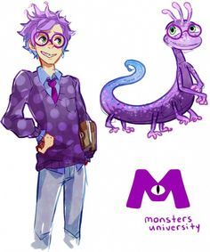 Monsters University - Randall by PhantomMarbles
