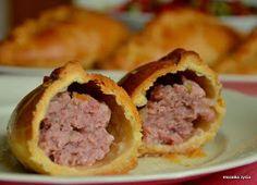 Mozaika życia: Kibinai z uproszczonym farszem Kebab, Calzone, Food And Drink, Pizza, Beef, Bakken, Meat, Steak
