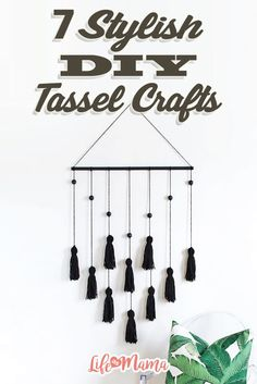 You can adorn just about anything with tassels! If you want to take it a step further and wear your tassels, keep reading. These are seriously fun and stylish tassel crafts that will embellish your outfit or your home.