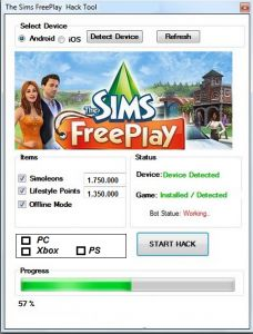 The Sims Freeplay Free money cheats hack generator tool