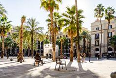 On apprécie Barcelone pour ses rues animées, son architecture et ses nombreuses places ensoleillées, à l'image de la Placa Reial.