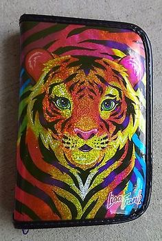 e4c7db9d7416a8 Lisa Frank Zippered 6 Ring Mini Binder Safari Tiger Cub Planner Organizer  1990 s in Collectibles