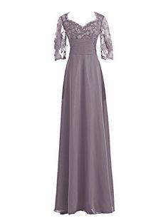 Diyouth 3/4 Lace Sleeves Chiffon Mother of the Bride Dress Grey Size 2 Diyouth http://smile.amazon.com/dp/B00QLIR86O/ref=cm_sw_r_pi_dp_cxydvb18CP26D