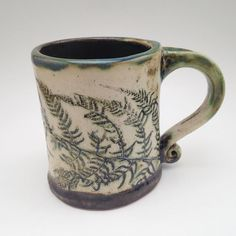 Fern mug! I'm soooo bummed these are so small. They only hold 6oz. But hey…