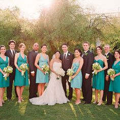 I like that the girls can select the style of the dress that best fits them.    Jenny Yoo dresses--styles chosen by bridesmaids