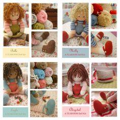 Knitted doll kits at Mary Jane's TEAROOM...