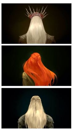 Thranduil, Tauriel and Legolas - drawings from the Hobbit (movies)