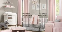 If my next baby is a girl, this will so be her nursery! Love the pink and gray