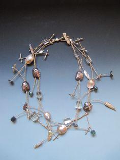 Baroque Fresh water Pearls, Moss  Aquamarine.. LuciaAntonelli.com