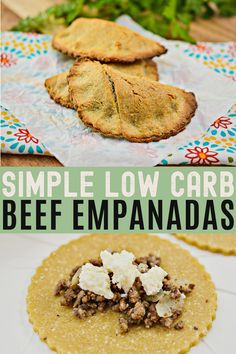 Savor the crunch and spice of the most perfect keto beef Empanada you ever had. Are they actually low-carb? Yes, they are! But you'll never be able to tell.#easyrecipes #dinner #tacotuesday #onthetable #empanadasrecipes Low Carb Pizza, Low Carb Lunch, Low Carb Keto, Beef Empanadas, Empanadas Recipe, Best Low Carb Recipes, Low Carb Chicken Recipes, Ketogenic Recipes, Keto Recipes