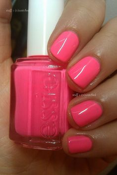 #Essie Punchy #Pink. #summer     #acrylicnails #manicure #nails #fingernails #nailpolish #fingernailpolish #beauty #hands