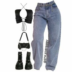 Teen Fashion Outfits, Mode Outfits, Retro Outfits, Look Fashion, Cute Swag Outfits, Stylish Outfits, Mode Instagram, Looks Vintage, Polyvore Outfits
