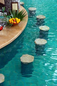 1000 images about stylish swim up bars on pinterest - Pictures of pools with swim up bars ...