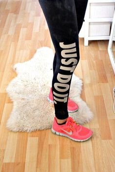 Just Do It cute motivational workout leggings