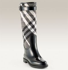 Burberry Quilted Check Print Rain Boot $450.00