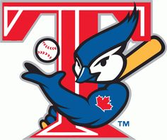 Toronto Blue Jays Alternate Logo - A blue jay holding a baseball bat and tossing a baseball next to a red T. Also known as the T-Bird Jays logo Mlb Team Logos, Mlb Teams, Sports Logos, Baseball Teams, Sports Teams, Minor League Baseball, Major League, Logo Fails, Toronto Blue Jays Logo