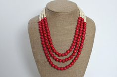 Hey, I found this really awesome Etsy listing at https://www.etsy.com/listing/169249594/red-necklace-red-beaded-necklace-red