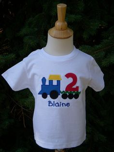 Train Custom Embroidered Personalized Train Long or by lisamcgrath, $24.00