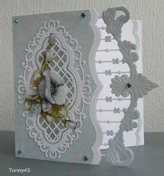 Voorbeeldkaart - lichtblauwe bloem - Categorie: Stansapparaten - Hobbyjournaal uw hobby website - Handmade Card using Marianne Creatables Design Dies