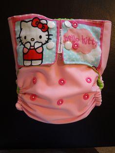 hello kitty cloth diaper i made!