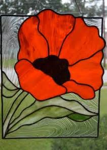 Stained Glass Patterns Poppies Stained Glass Poppy Glasses